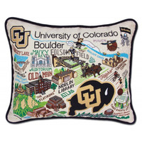 University of Boulder Colorado Embroidered Pillow