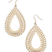 Chain-Link Teardrop Earring | Wet Seal