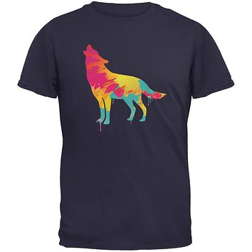 Splatter Wolf Navy Youth T-Shirt