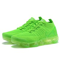 Nike Air VaporMax Fashion New Air Cushion Sports Leisure Shoes Women Green