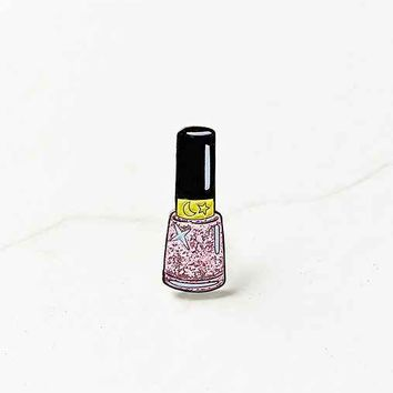 Laser Kitten Pink Moon Sparkle Nail Polish Pin