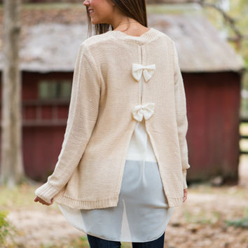 Wrapped With A Bow Sweater, Cream