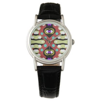Unique Crazy Abstract Artwork Totem Wrist Watch
