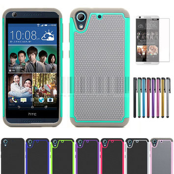 Rugged Armor Heavy Duty Impact Silicone Hard Case Cove With/Without Stylus+Films for HTC Desire 626 626G 626G+ 626S 626W