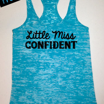 Workout Fitness Tank...Little Miss Confident...Burnout Racerback Tank Top...Little Miss Workout Collection.