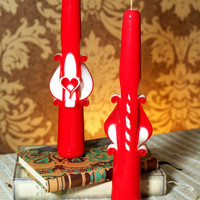 Carved candles for St. Valentines' s Day. Figure candles for Wedding events. Handmade candle. Uniques gift.