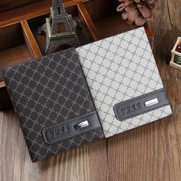 Business Mens Casual Leather Fashion Card Holder Bifold Wallet