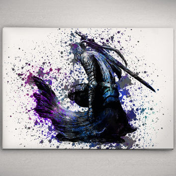 "Dark Souls 3 Poster Available in 23""x33"" Artorias Buy 2 Get 3rd FREE Watercolor Game Print No619"