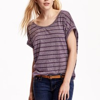 Old Navy Womens Dolman Sleeve Cocoon Tops