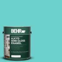 BEHR, 1-gal. #AE-38 Water Pool Semi-Gloss Enamel Alkyd Interior/Exterior Paint, 394001 at The Home Depot - Mobile
