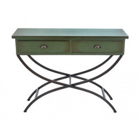 Green Wood Accent Table
