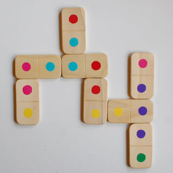 Wood Matching Game  Eco-Friendly Domino Set 25 Pcs.