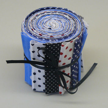 Quilt Fabric Strips Jelly Roll Polka Dots