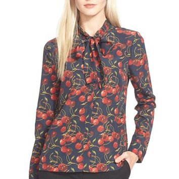 Women's Ted Baker London 'Ciera' Bow Detail Cherry Print Shirt,