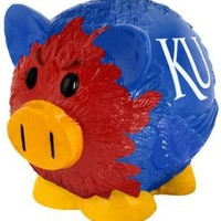 Kansas Jayhawks Large Thematic Piggy Bank