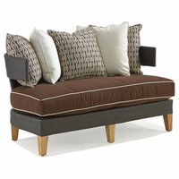 Spinnaker Outdoor Wicker Loveseat