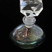Cristallerie Italy Perfume Bottle Marriage Deco Stopper