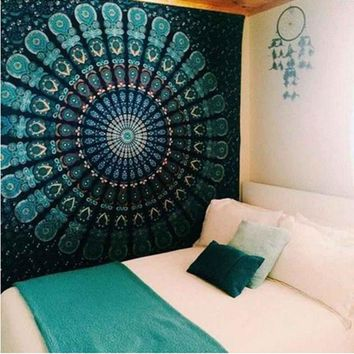 Indian Tapestry Wall Hanging Mandala Tapestries Beach Throw Hippie Towel Bohemian Bedspread Table Blanket Home Wall Decor