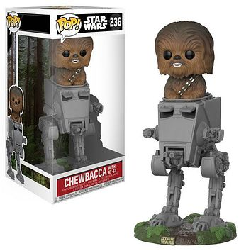 Funko POP Deluxe Star Wars Chewbacca in AT-ST