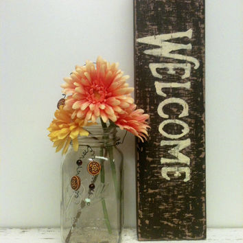 Wood Sign,Welcome Sign,Simple,Rustic Sign,Wedding Sign,Custom Sign,Painted Sign,Home Decor Sign,Re purposed Wood