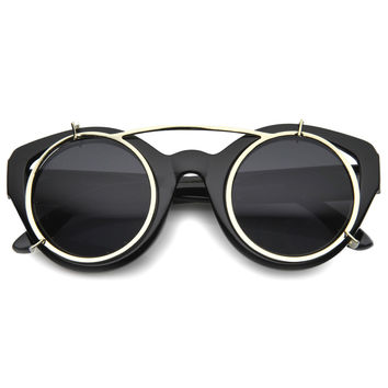 STENOS RETRO STEAMPUNK SUNGLASSES - BLACK