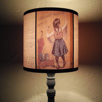 Back To School vintage children Lamp Shade Lampshade - french country, french lamp shade, shabby chic, night lighting, nursery, baby's room