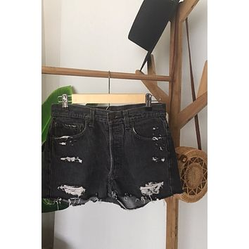 c8555366 Vintage Levi's 501 Denim Short SIZE 0
