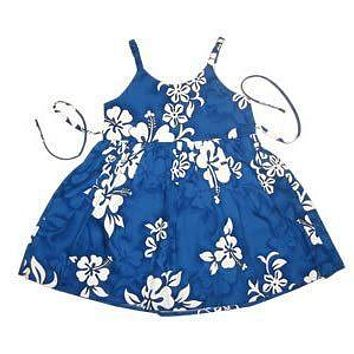 waves hawaiian girl sundress