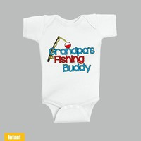 Grandpa's Fishing Buddy - Infant Lap Shoulder Bodysuit