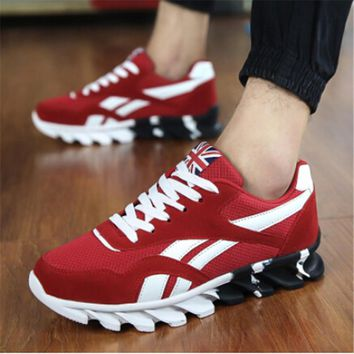 Spring Autumn Men's Sneakers 2016 Men Running Shoes Trending Style Sports Shoes Breath