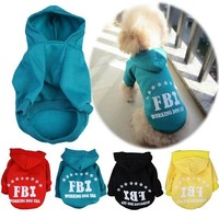 DCCKH6B Hot Pet Puppy Unsex Dog Cat Coat Clothes Printed Hoodie Sweater Shirt Coat Costume Tops