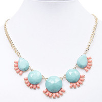 Bright & Girly Statement Necklace | Wet Seal