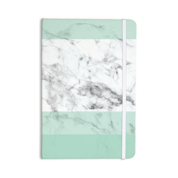 "KESS Original ""Mint Marble Fade"" White Green Everything Notebook"