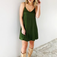 Rockin' Around The Christmas Tree Dress: Winter Green