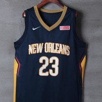 New Orleans Pelicans #23 Anthony Davis Nike Navy Icon Edition NBA Jerseys - Best Deal Online