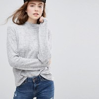 Pieces High Neck Knitted Jumper at asos.com