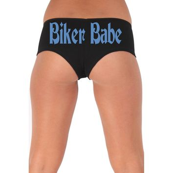 Women's Sexy Hot Booty Boy Shorts Biker Babe Gothic Blue Bold Style Type Lingerie