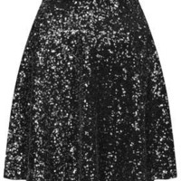 **FLIPPED OUT SEQUIN SKIRT BY WYLDR