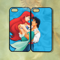Little Mermaid Ariel and Eric Couple Case-iPhone 5, iphone 4s, iphone 4, Samsung GS3, GS4 -Silicone Rubber or Hard Plastic Case, Phone cover
