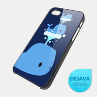 Cute Blue Whale iPhone 5 Case