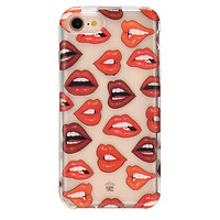 Red Lips iPhone Clear Case