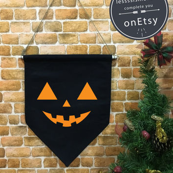 Halloween baner flag, PUMPKIN flag, Halloween Decor, Halloween banner,Pumpkin Banner,wall hanging decoration funny gifts