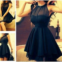 Sleeveless Bodycon Little Black Dresses = 5659256193