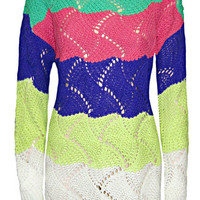 BRIGHT CHUNKY KNIT SWEATER