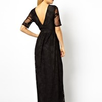 ASOS Maxi Dress In Lace With Wrap Back Detail