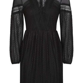 Spot Pleated Skater Dress - New In This Week - New In