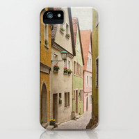 Italian Alley - Bright Colors iPhone & iPod Case by Angela Haugland
