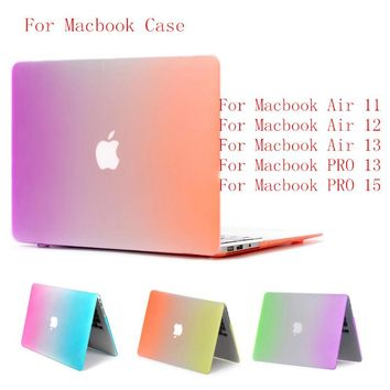SIBAINA Rainbow Matte Laptop Case For Macbook Air 13 12 11 15 Pro Retina 13.3 15.4 inch Macbook Case For Macbook Air 11 Case