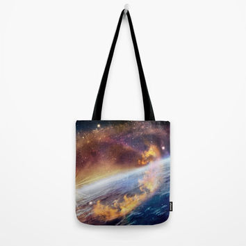 Cosmic fire Tote Bag by exobiology