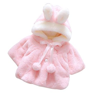 Baby Girls Bunny Fleece Coat